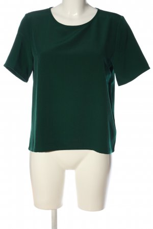 Monki Kurzarm-Bluse grün Casual-Look