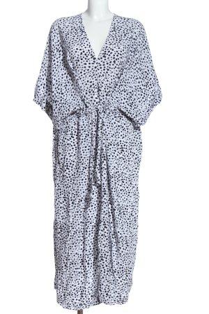 Monki Robe à manches courtes blanc-noir imprimé allover style décontracté