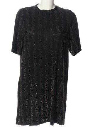 Monki Kurzarmkleid schwarz Streifenmuster Elegant