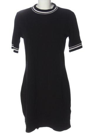 Monki Kurzarmkleid schwarz-weiß Streifenmuster Casual-Look