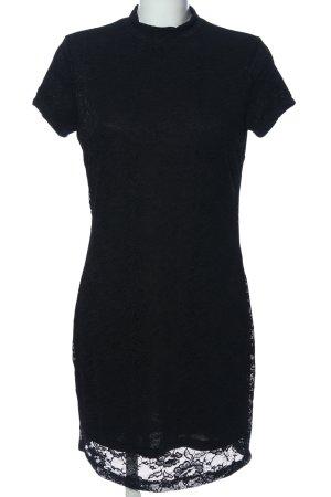 Monki Kurzarmkleid schwarz Elegant