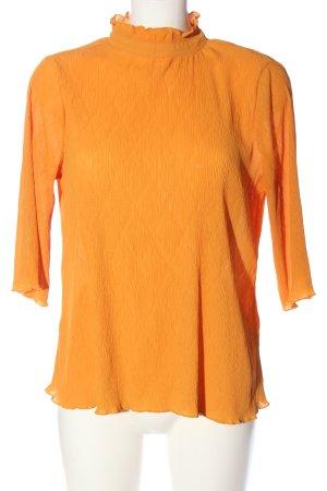 Monki Langarm-Bluse hellorange Business-Look