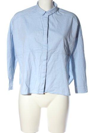 Monki Langarmhemd blau Business-Look