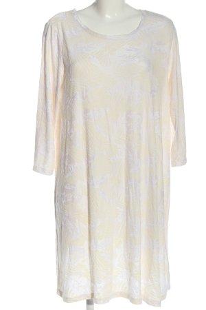 Monki Abito a maniche lunghe crema-bianco motivo astratto stile casual