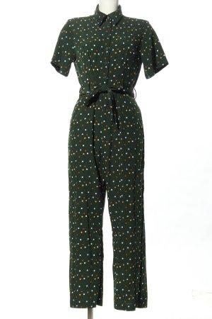 Monki Langer Jumpsuit green spot pattern business style