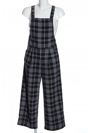 Monki Dungarees black-white check pattern casual look