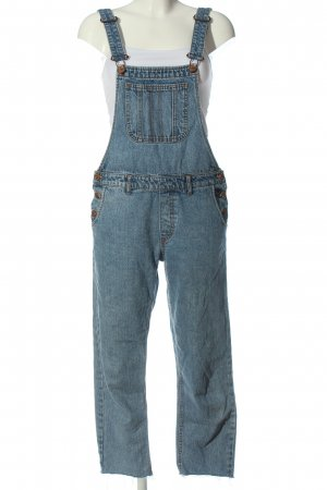 Monki Bib Denim blue casual look