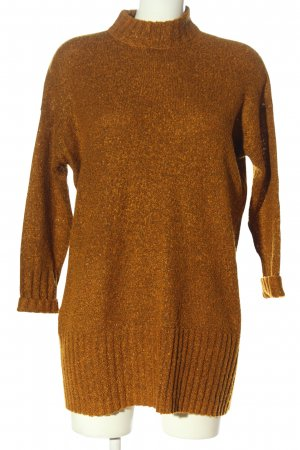 Monki Longpullover bronzefarben meliert Casual-Look