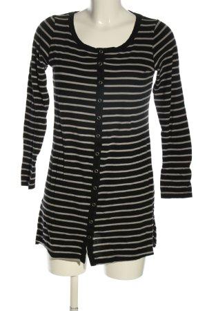 Monki Longshirt schwarz-weiß Streifenmuster Casual-Look