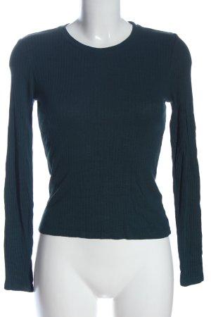 Monki Longsleeve blau Streifenmuster Casual-Look