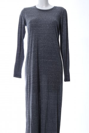 Monki Maxikleid blau meliert Casual-Look