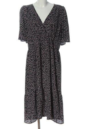Monki Midi Dress black allover print elegant