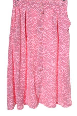 Monki Spódnica midi różowy-biały Na całej powierzchni W stylu casual
