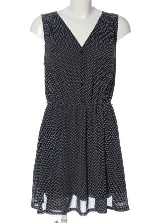 Monki Minikleid schwarz-weiß Punktemuster Casual-Look