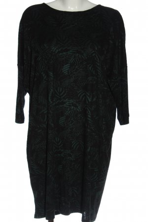 Monki Mini vestido negro-gris claro estampado repetido sobre toda la superficie