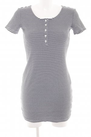 Monki Minikleid schwarz-weiß Streifenmuster Casual-Look