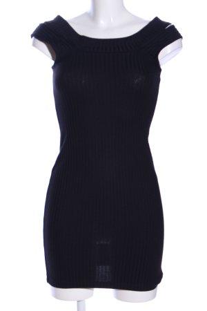 Monki Minikleid schwarz Streifenmuster Casual-Look