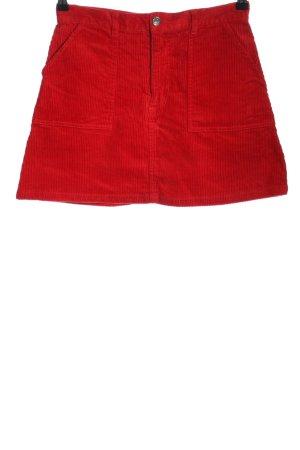 Monki Minirock rot Streifenmuster Casual-Look