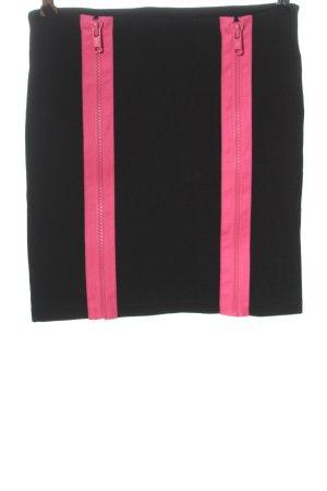 Monki Minirock schwarz-pink Casual-Look