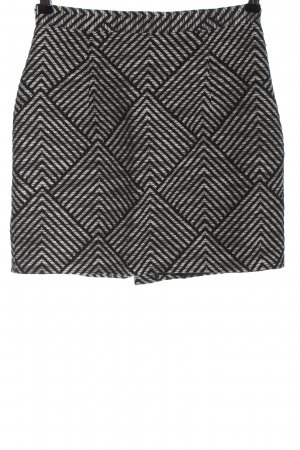 Monki Minirock schwarz-weiß Streifenmuster Casual-Look