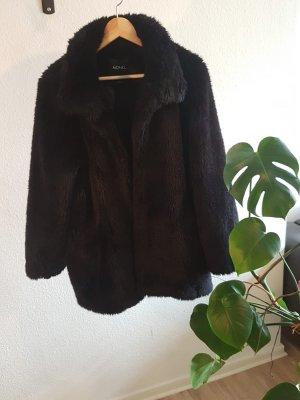Monki Abrigo de piel negro