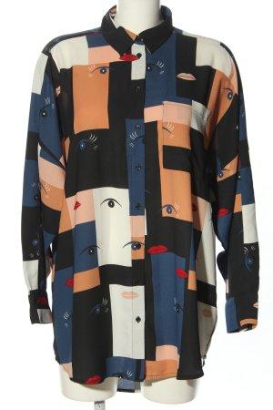 Monki Bluzka oversize Abstrakcyjny wzór W stylu casual