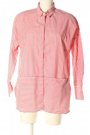 Monki Oversized Bluse weiß-rot Allover-Druck Casual-Look
