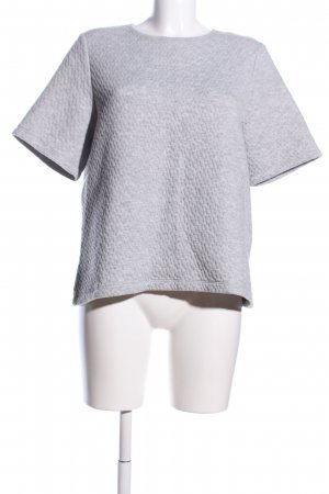 Monki Oversized Shirt hellgrau meliert Casual-Look