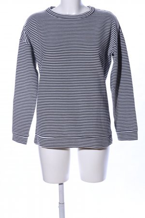 Monki Oversized Shirt black-white striped pattern casual look