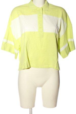 Monki Polo-Shirt grün-weiß Casual-Look