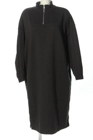Monki Swetrowa sukienka czarny W stylu casual