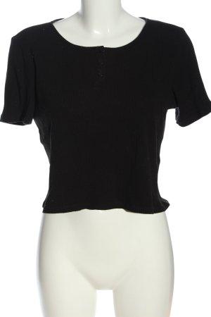 Monki Ribbed Shirt black casual look