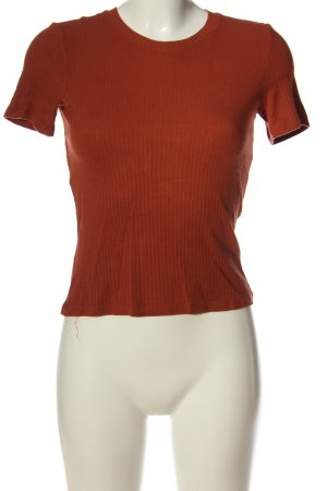 Monki Ribbed Shirt red casual look