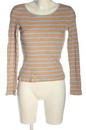 Monki Prążkowana koszulka Wzór w paski W stylu casual