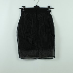 Monki Falda de talle alto negro poliamida