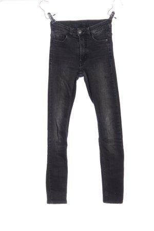 Monki Tube jeans zwart casual uitstraling