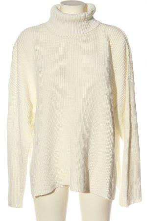 Monki Jersey de cuello alto blanco puro look casual
