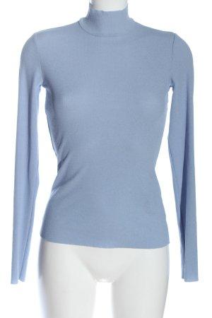 Monki Rollkragenshirt blau Casual-Look
