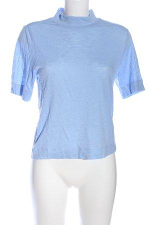 Monki Maglia a collo alto blu puntinato stile casual