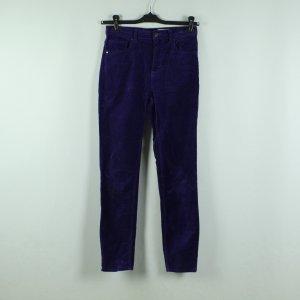 Monki High Waist Trousers dark violet polyester