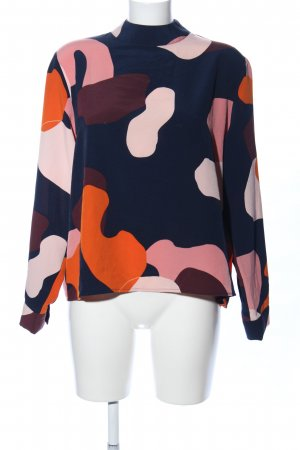 Monki Schlupf-Bluse abstraktes Muster Casual-Look