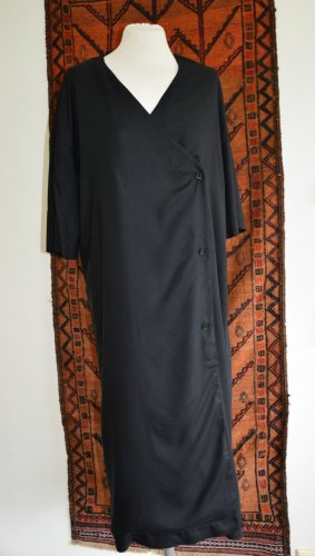 Monki Geklede jurk zwart Viscose
