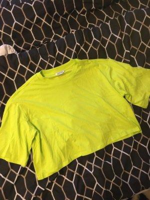 Monki Shirt Cropshirt cropped neon