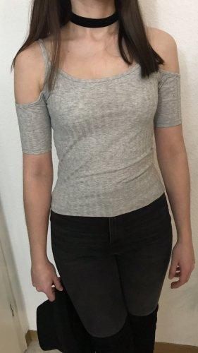 Monki Shirt offshoulder in Lichtgrau top Zustand XS