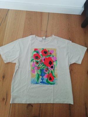 Monki Shirt T-Shirt Print Statement Blumen Flowers