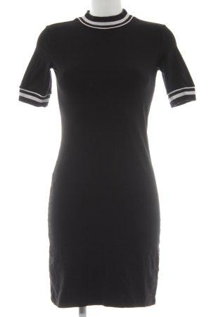 Monki Shirtkleid schwarz-weiß Casual-Look