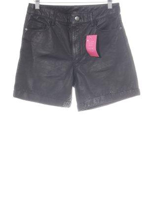 Monki Shorts schwarz Metallelemente