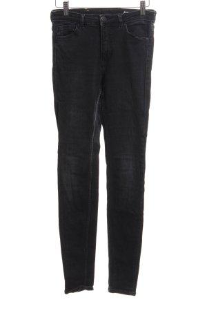 Monki Skinny Jeans schwarz Jeans-Optik