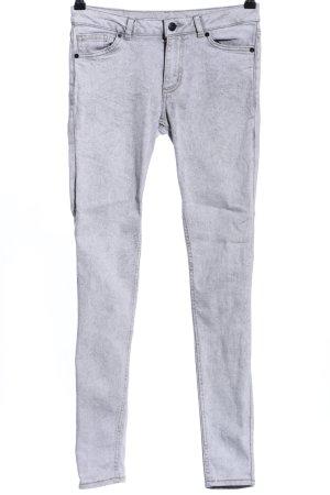 Monki Skinny Jeans hellgrau Casual-Look