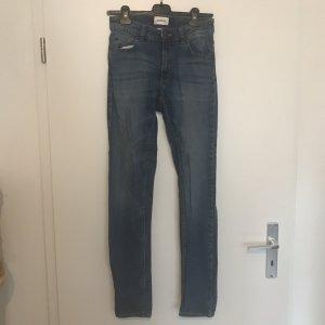 Monki Skinny Jeans mittelblau, 27/32